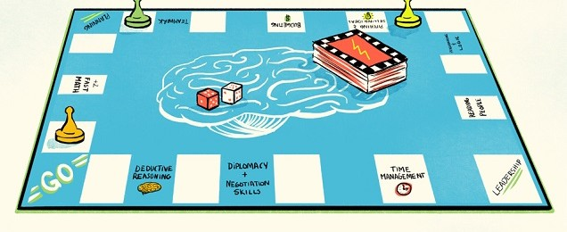 Board games for developing real-life skills